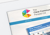 Clear communications website design